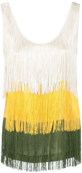 Jucca Tri-Colour Fringe Top - Lyst