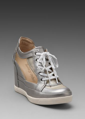 Luxury Rebel Carlton Mesh Wedge Sneaker in Cement - Lyst
