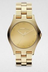Marc By Marc Jacobs Henry Goldfinished Stainless Steel Bracelet Watch - Lyst