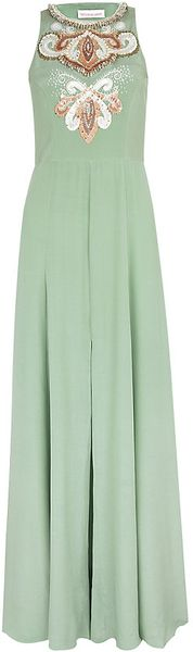 Matthew Williamson Embellished Silk Gown - Lyst