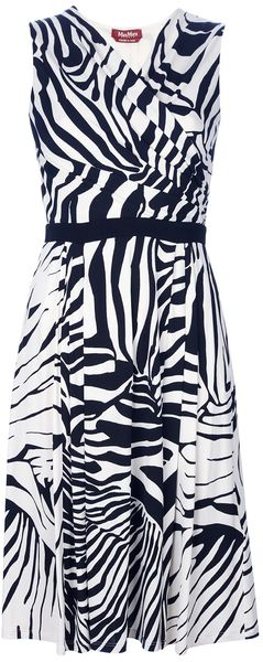 Max Mara Studio Zebra Print Dress - Lyst