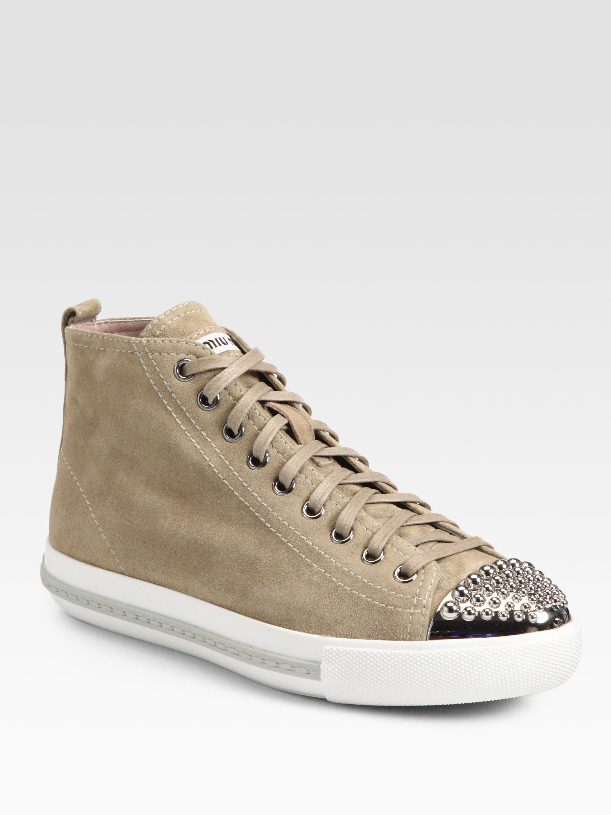 Miu Miu Leather High-Top Chunky Sneakers MqIOmSJgBZ
