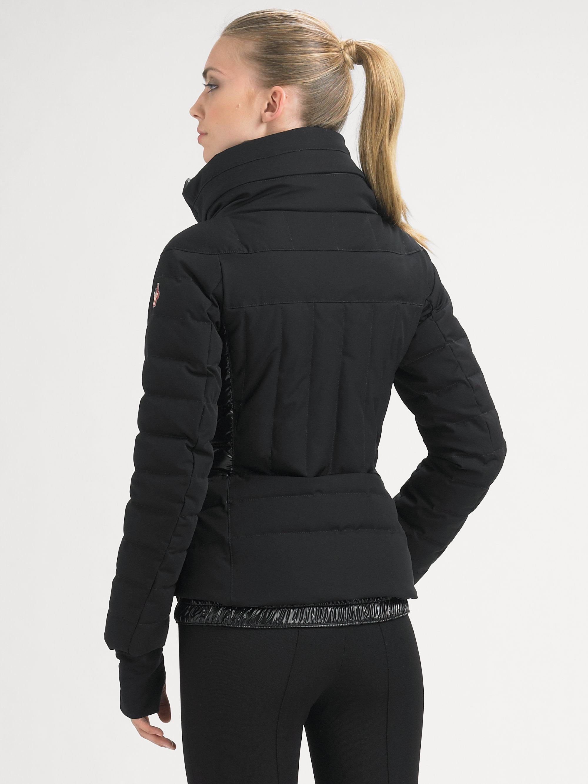 Lyst Moncler Quilted Puffer Jacket In Black