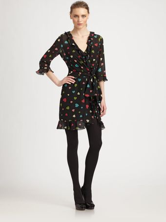Moschino Cheap & Chic Silk Heart Dress - Lyst