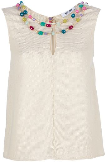 Moschino Cheap & Chic Bead Embellished Top - Lyst