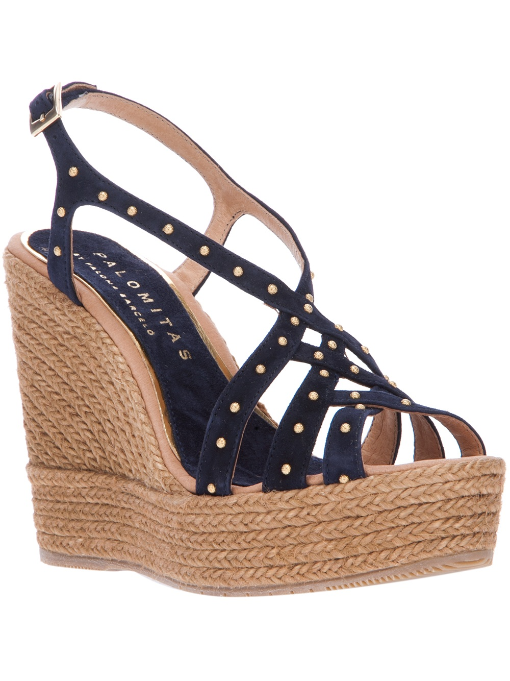 Palomitas by Paloma Barceló Studded Wedge Espadrilles prices for sale low shipping fee for sale buy cheap classic cheap price from china sale amazon 6P8XlqzQ