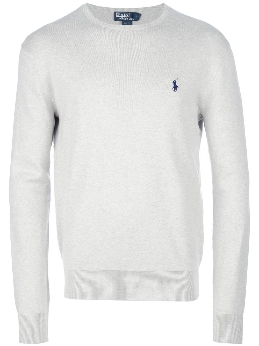 Lyst Polo Ralph Lauren Crew Neck Sweater In White For Men