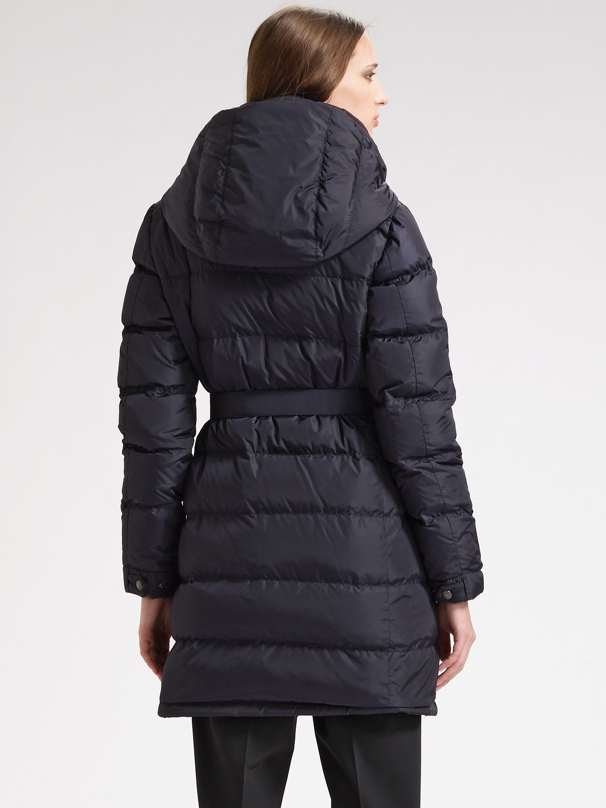 Prada Lyst Black Down Jacket Quilted In Belted vqwqZ0Ad e48c2353c17