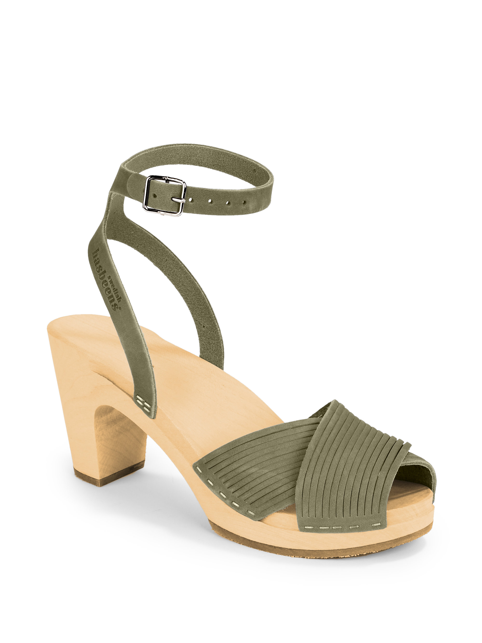 Lyst - Swedish Hasbeens Strappy Clog Sandals in Gray 936405d07