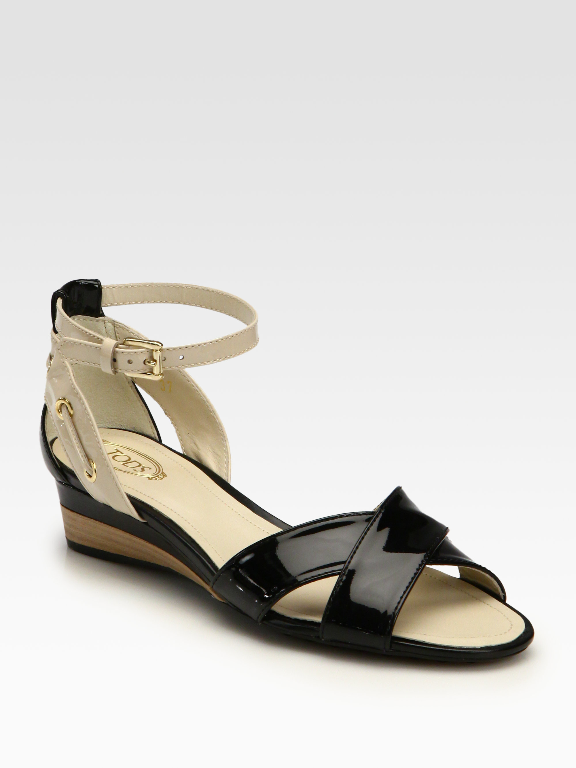 cheap footlocker buy cheap supply Tod's Leather Slingback Wedges cost 4V2EpxB2mZ