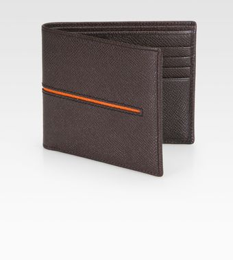 Tod's Leather Stripe Wallet - Lyst