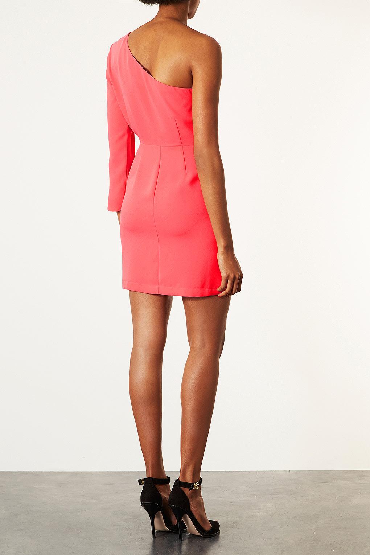 195d25512981 TOPSHOP One Shoulder Shift Dress in Purple - Lyst