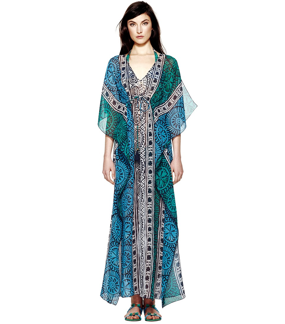 lyst tory burch tofino long caftan ForTory Burch Fashion Island