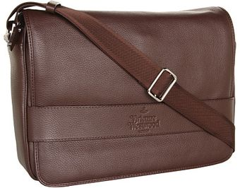 Vivienne Westwood Leather Postino Messenger Bag - Lyst