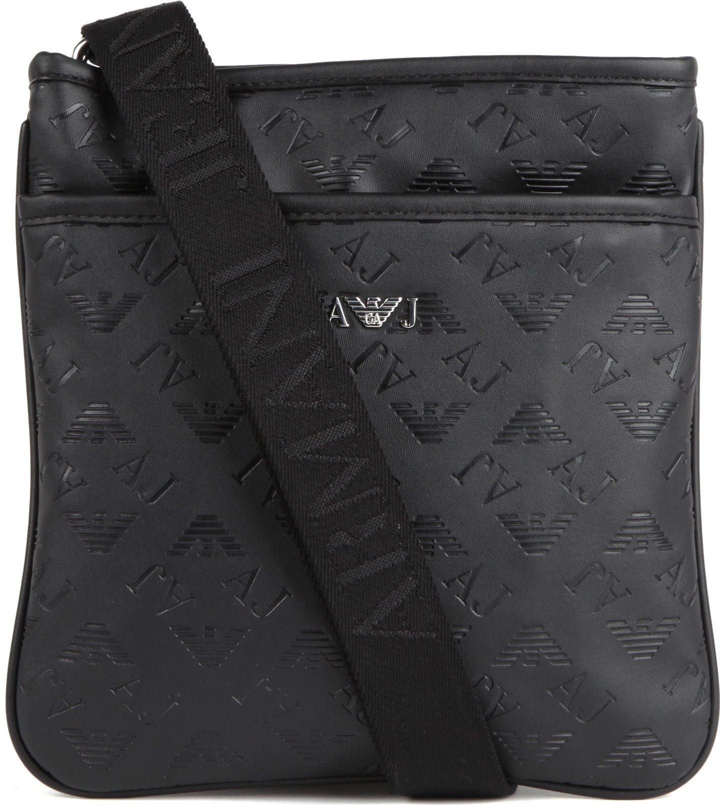 f2ab9362840 Armani Jeans Fauxleather Messenger Bag in Black for Men - Lyst