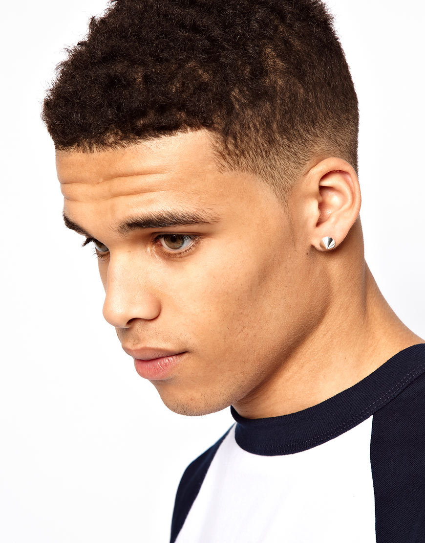 Asos Earrings With Spike In Metallic For Men Lyst