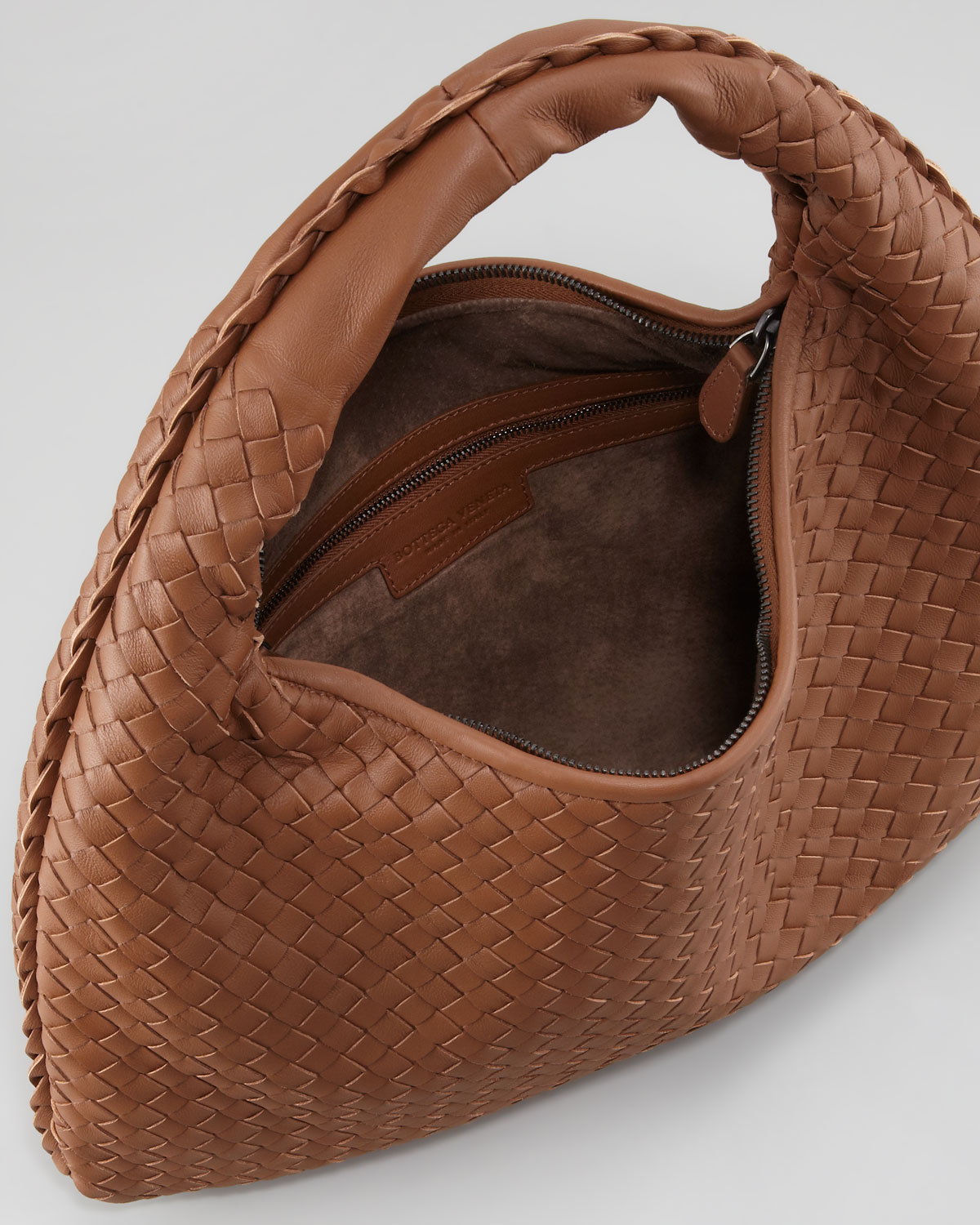 03aacf01b80d Lyst - Bottega Veneta Medium Veneta Hobo Bag Light Brown in Brown