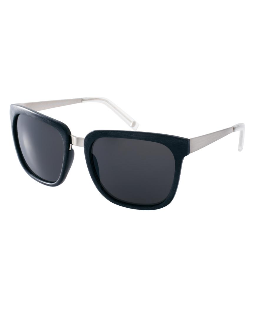 lyst cheap monday wayfarer sunglasses in black for men. Black Bedroom Furniture Sets. Home Design Ideas