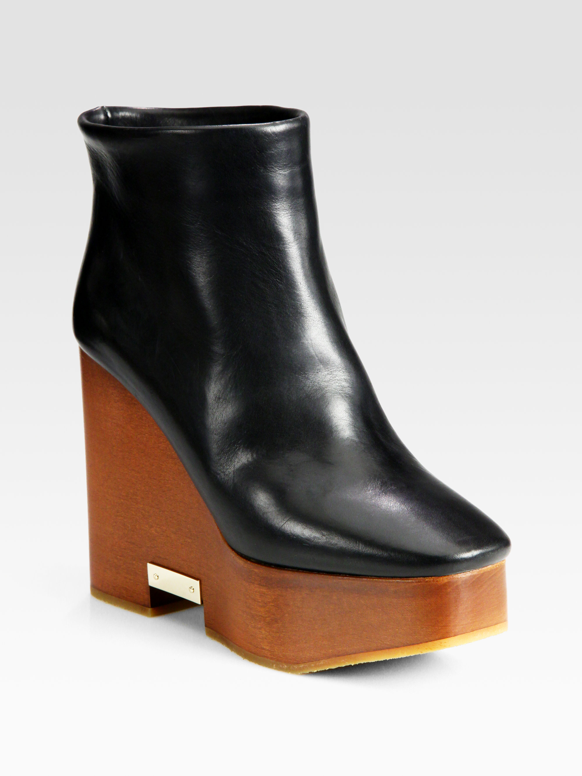 Chloé Patent Leather Wedge Booties cheap latest Bt1reWMf