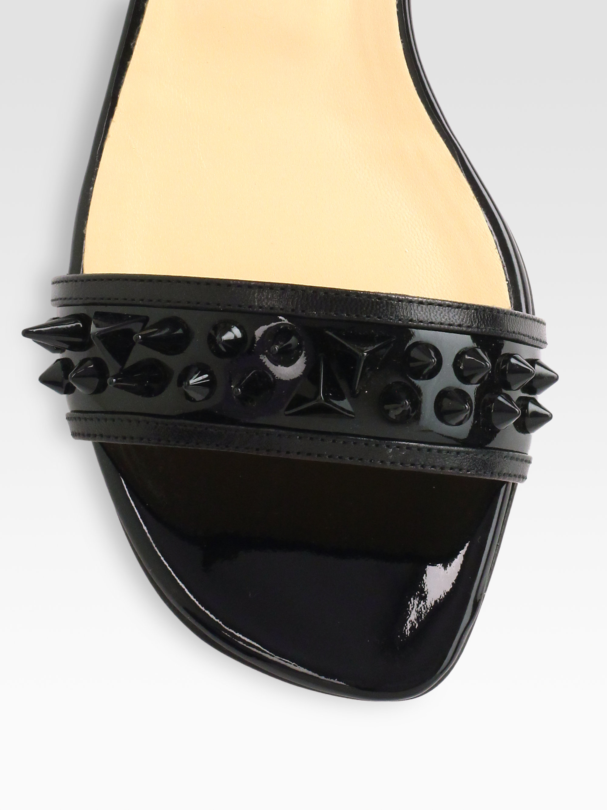 christian louboutin leather thong sandals | cosmetics digital ...