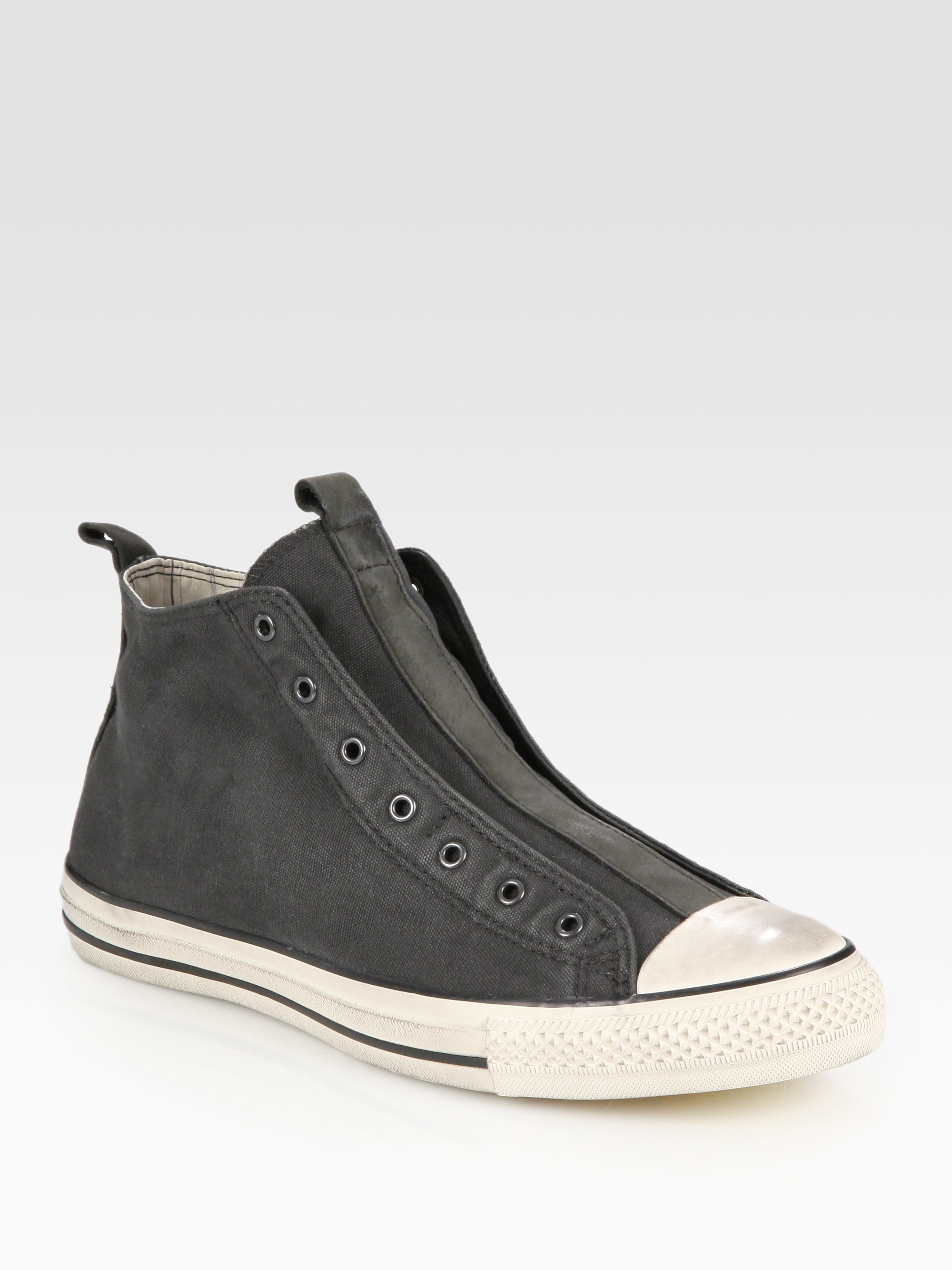 08516d982600 Lyst - Converse John Varvatos Laceless Canvas Hightop Sneakers in Gray for  Men