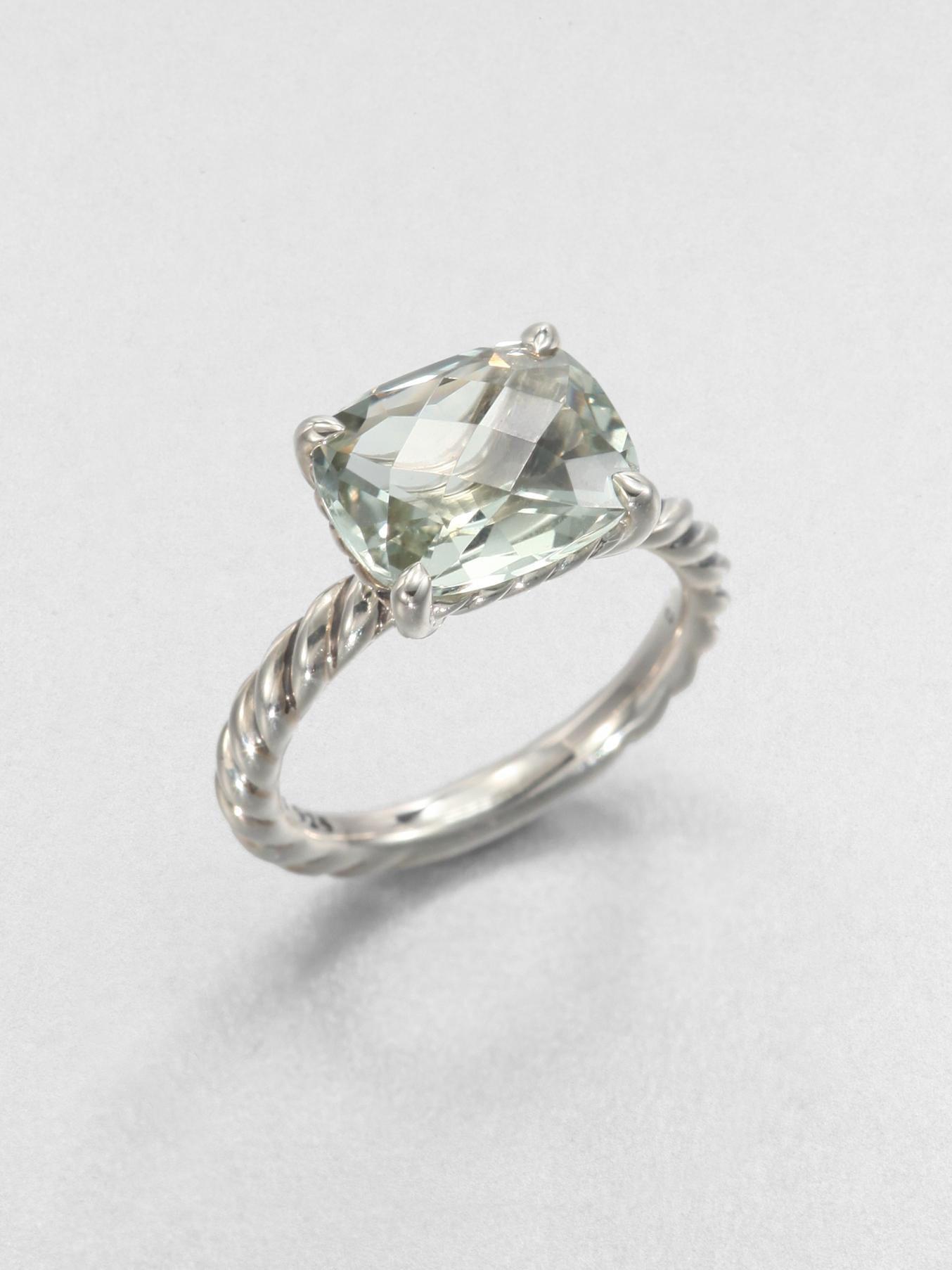 david yurman prasiolite and sterling silver ring in silver