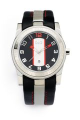 D&G Color-blocked Stainless Steel Date-function Watch-black-silver - Lyst