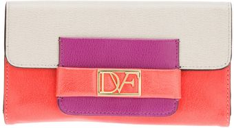 Diane Von Furstenberg Metro Colour Block Purse - Lyst