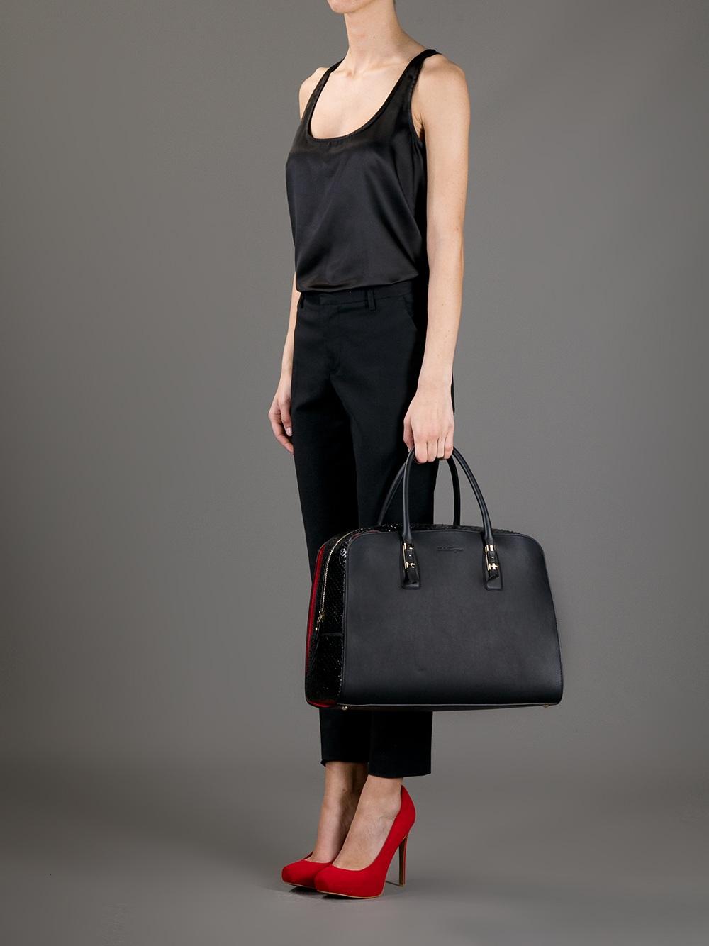 4c1b86cfc1b8 Lyst - Ferragamo Emmy Bag in Black