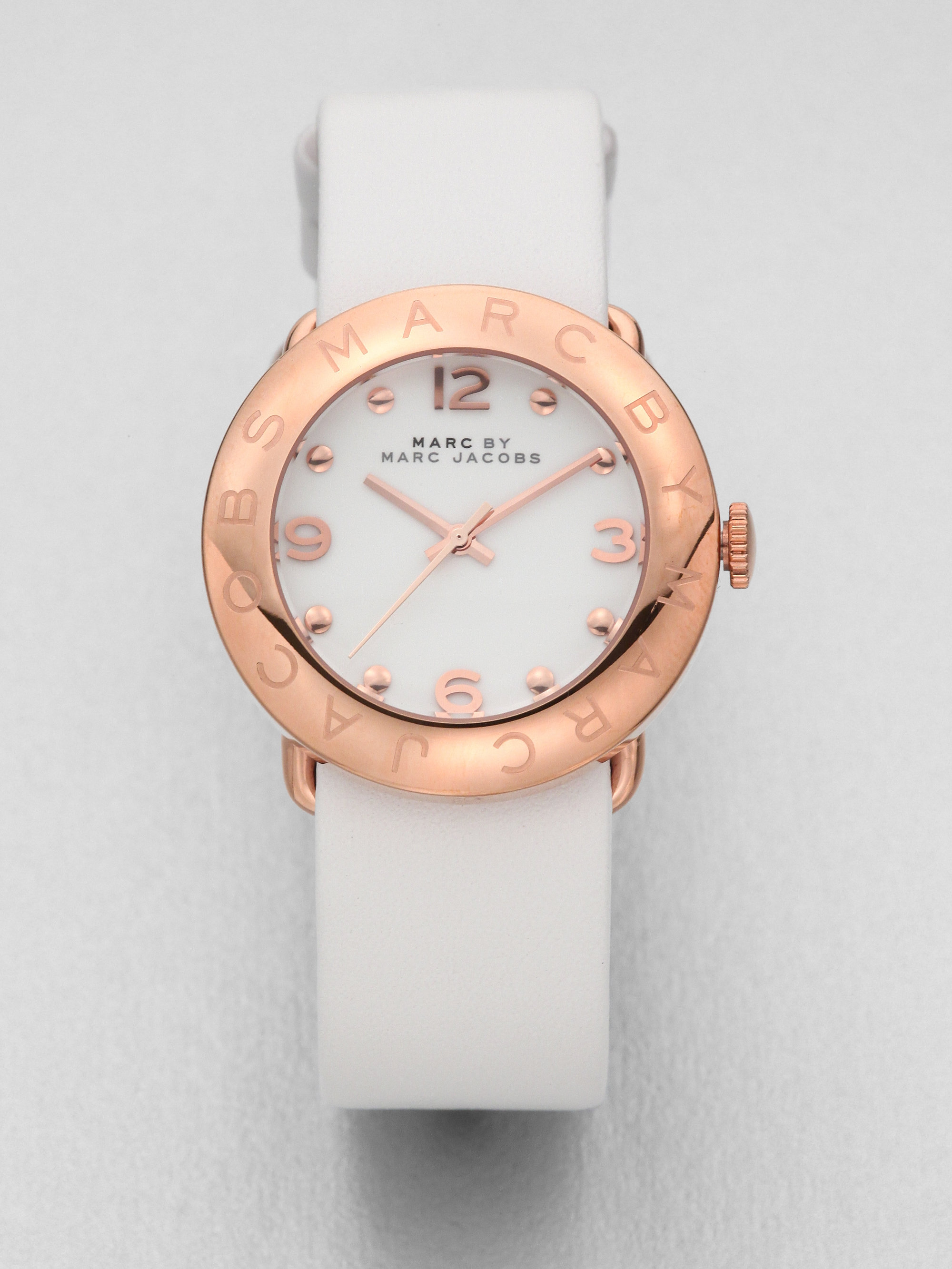 02cf3e1066acc Marc By Marc Jacobs Amy Rose Goldtone Stainless Steel Leather Watch ...