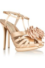 Nicholas Kirkwood Flower Detailed Silk Satin Sandals - Lyst