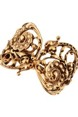 Oscar de la Renta Carved Scrollwork Bangle - Lyst