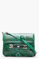 Proenza Schouler Mini Green Pythonskin Ps11 Shoulder Bag - Lyst