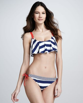 Splendid Monroe Mix-Stripe Swim Bottom - Lyst