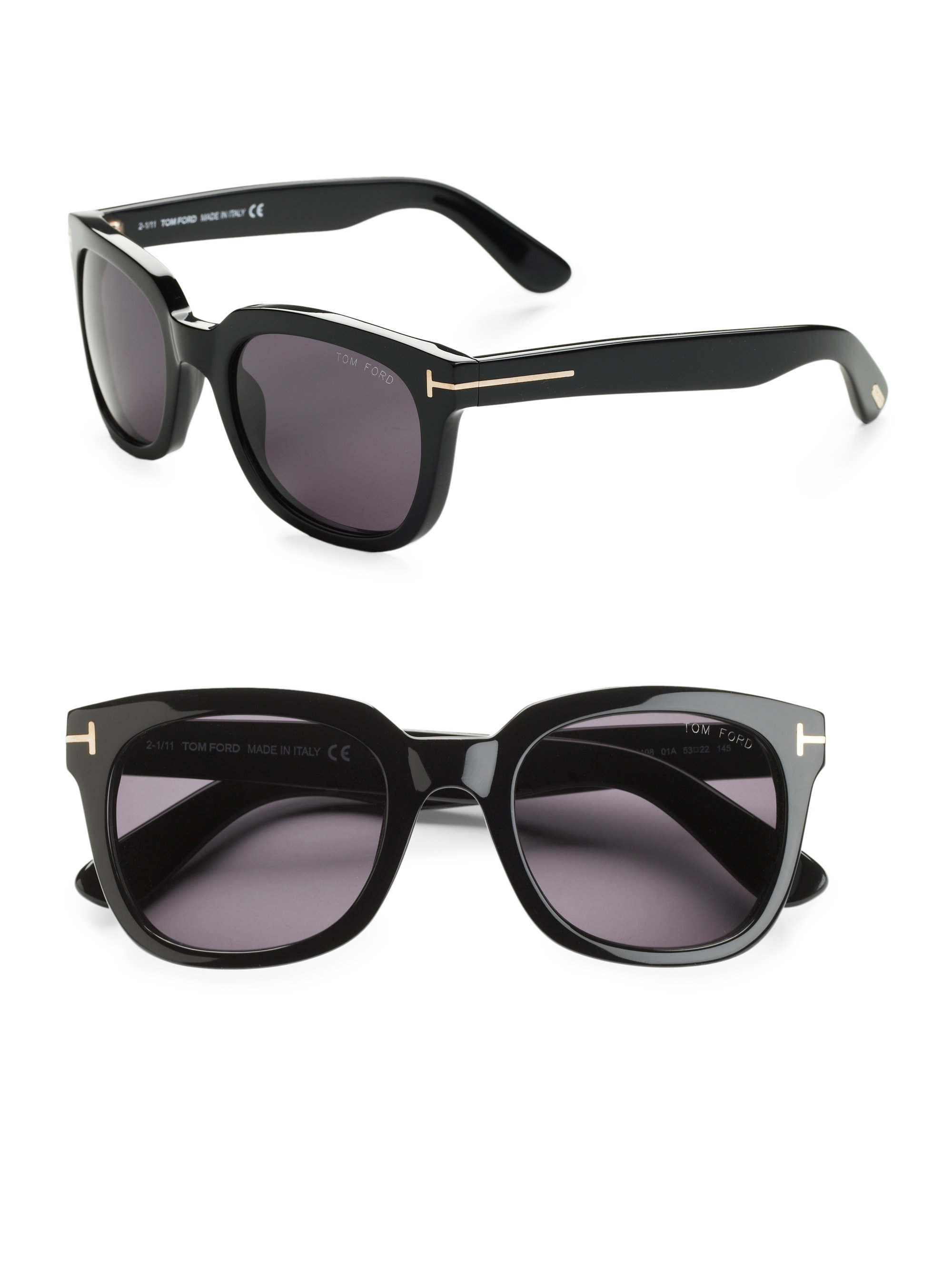 Tom ford Campbell Square Sunglasses in Black | Lyst