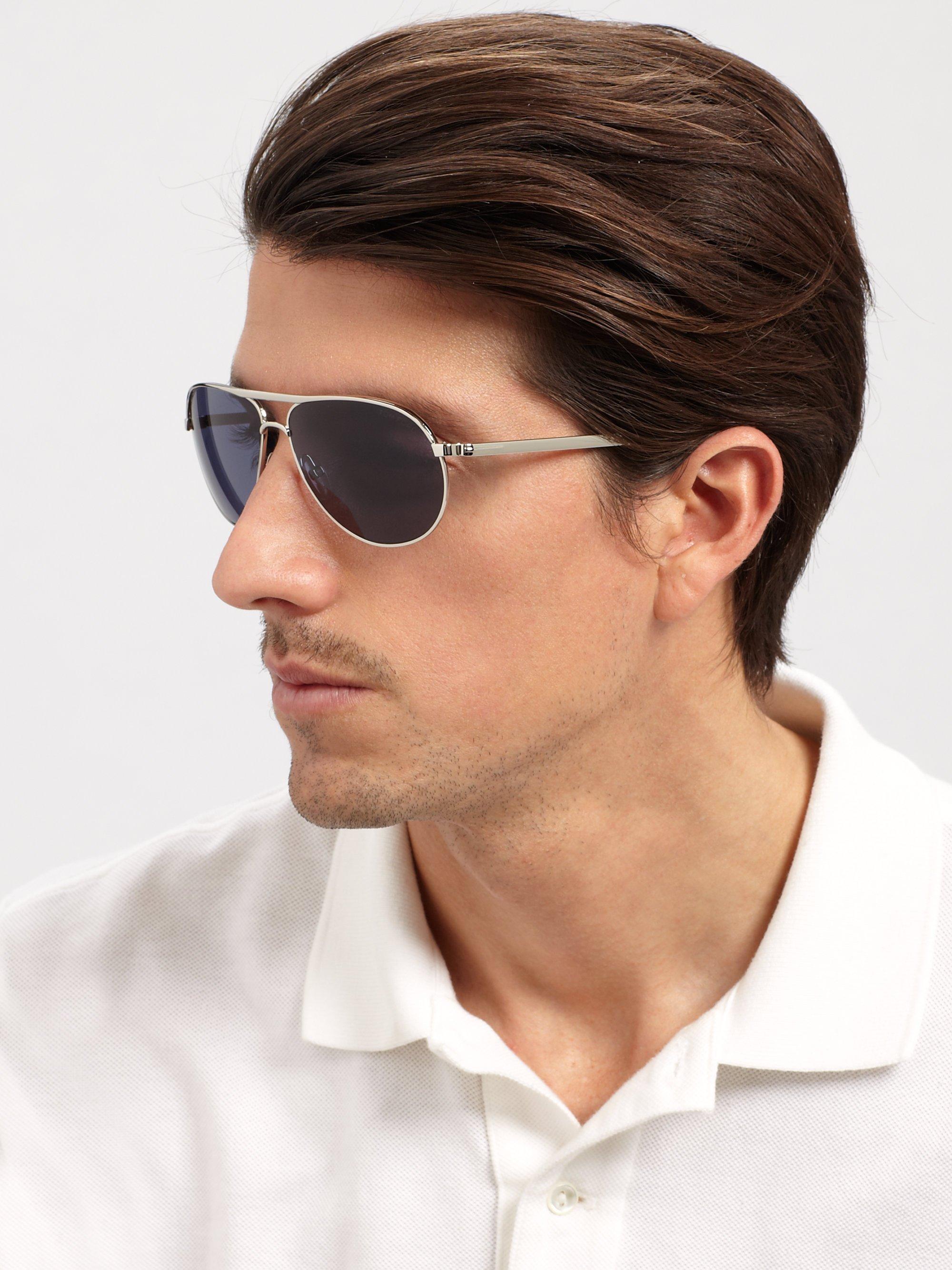 lyst tom ford marko metal aviator sunglasses in blue for men. Black Bedroom Furniture Sets. Home Design Ideas