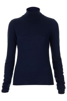 Topshop Knitted Roll Neck Jumper - Lyst