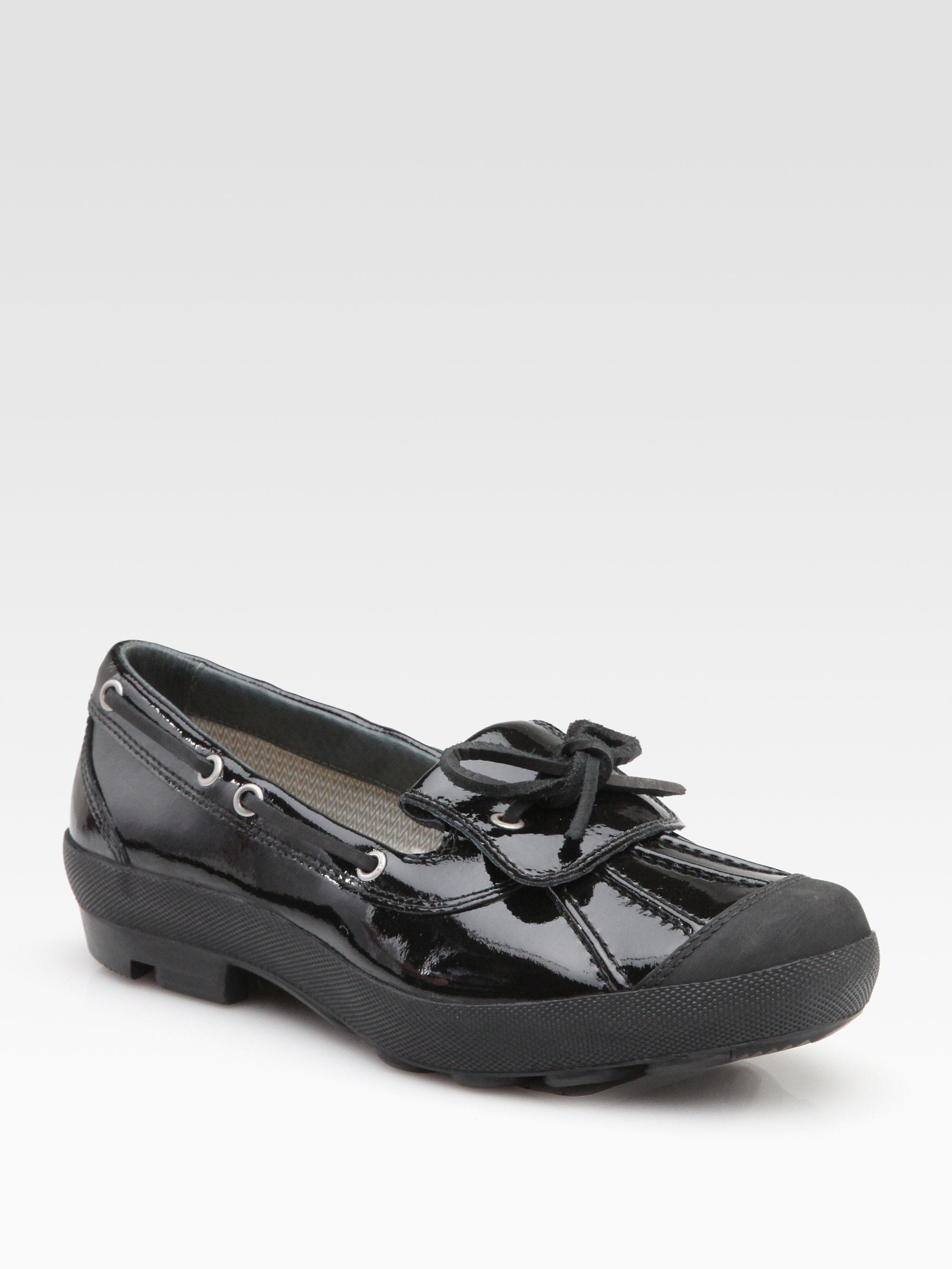 Lyst Ugg Ashdale Patent Leather Rain Shoes In Black