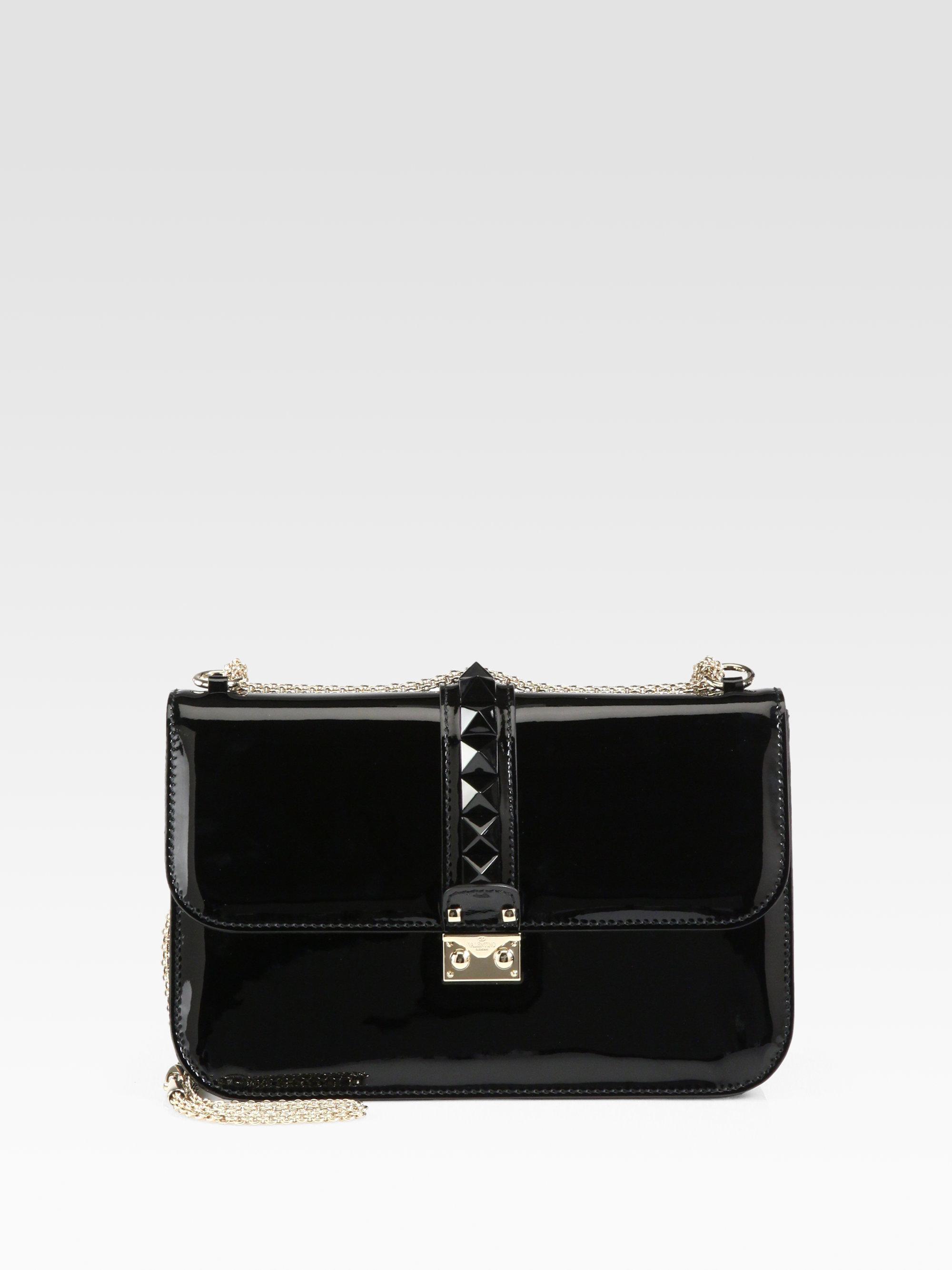 Black Patent Leather Shoulder Bag 47
