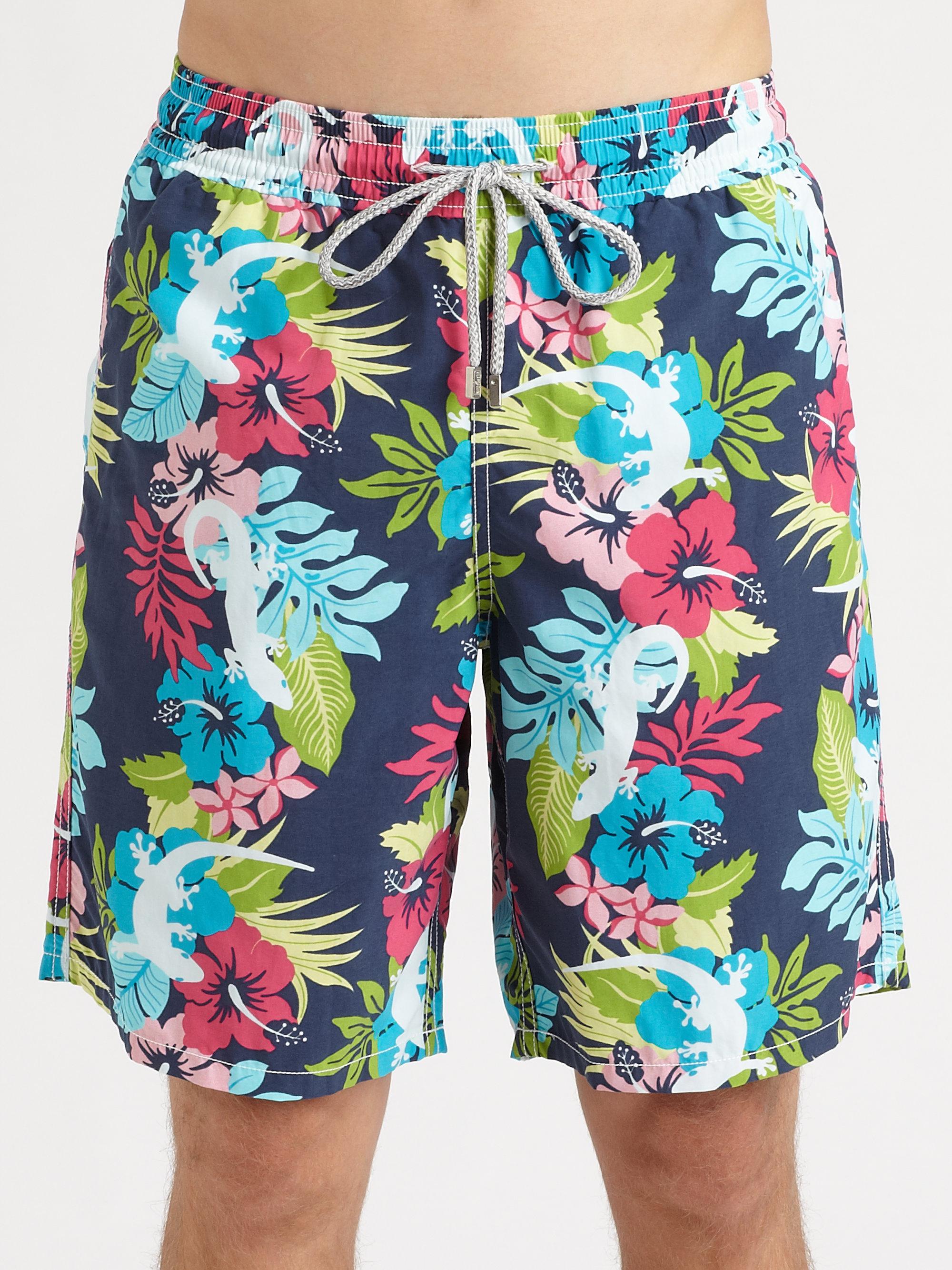 923a9e6c69 Vilebrequin Floral Print Swim Trunks for Men - Lyst