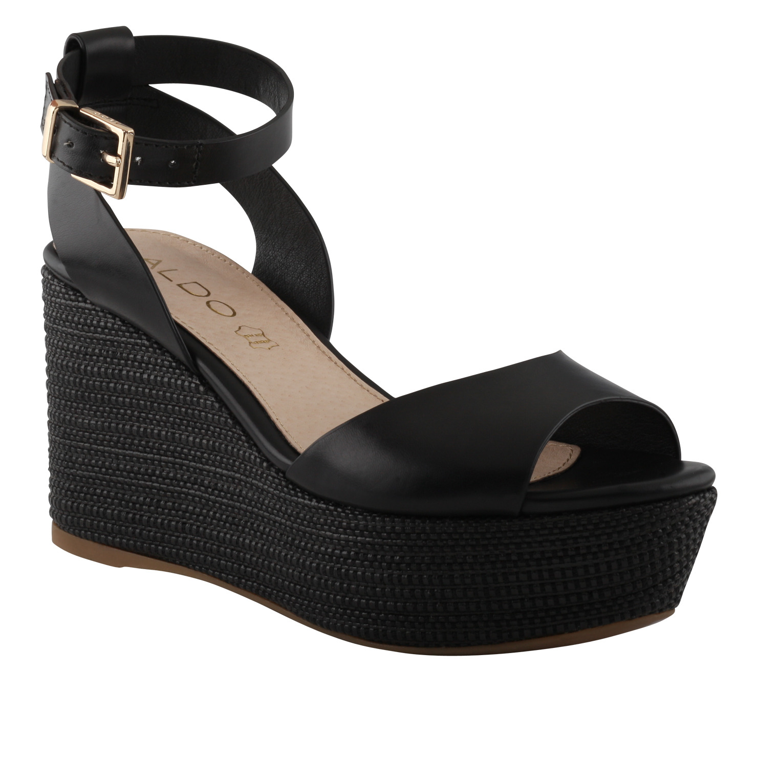 Lyst - ALDO Taipa Wedge Sandals in Black