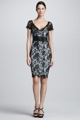 Emilio Pucci Short-Sleeve Lace Dress - Lyst