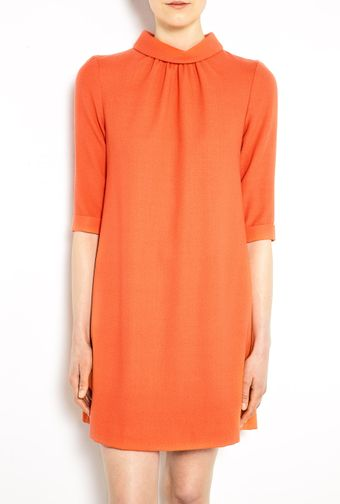 Goat Orange Sabine Gathered Neck Shift Dress - Lyst
