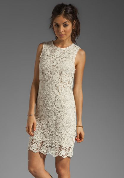 Joie Vionne Crochet Lace Dress in Off White in White (cream) Lyst