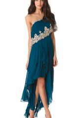 Marchesa One Shoulder Gown - Lyst