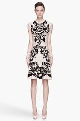 McQ by Alexander McQueen Pale Pink and Black Knit Flirty Dress - Lyst