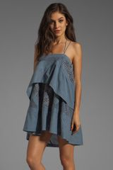 Nicholas K Cassia Dress in Periwinkle - Lyst