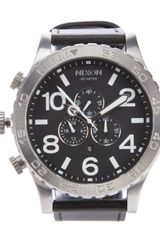 Nixon Chrono Leather Watch - Lyst