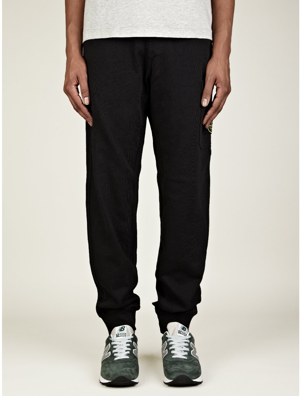 Stone Island Mens Fleece Track Pants in Black for Men - Lyst