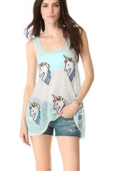 Wildfox Starlite Star Bright Tank - Lyst